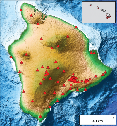 HVO Seismic Stations - Hawaii Island